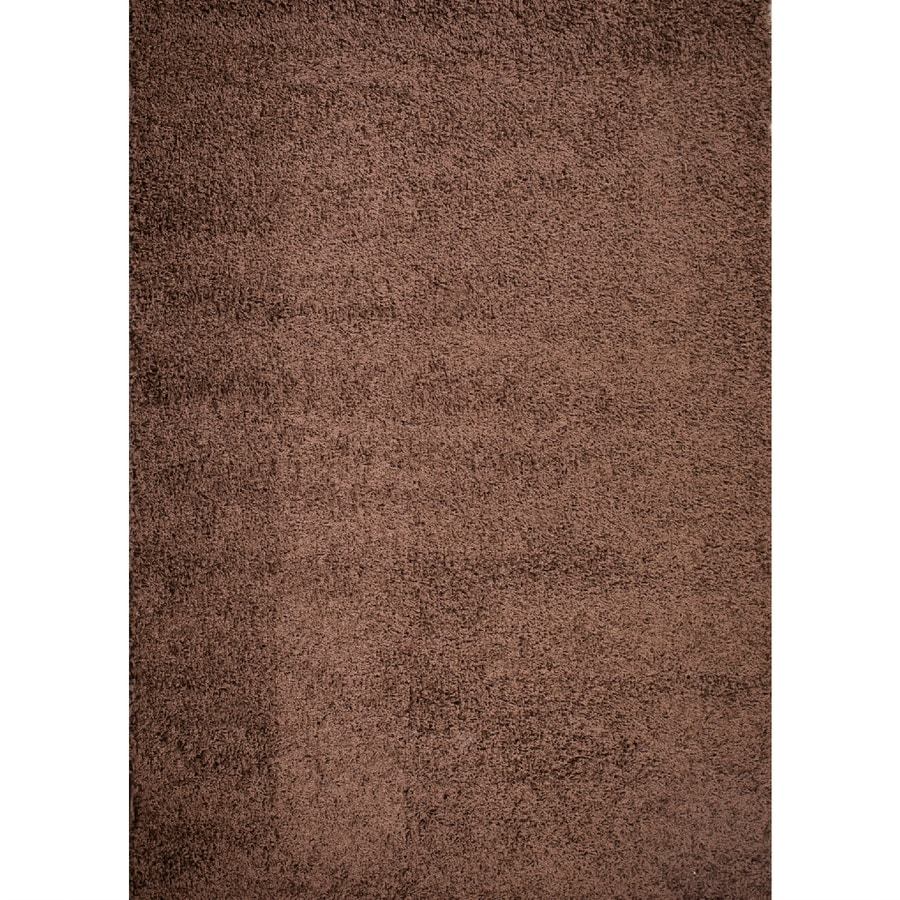 Concord Global Moderno Brown Rectangular Indoor Woven Area Rug (Common: 7 x 9; Actual: 79-in W x 111-in L x 6.58-ft Dia)