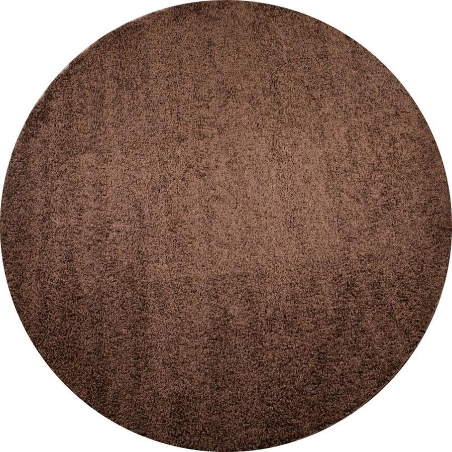 Concord Global Moderno Brown Round Indoor Woven Area Rug (Common: 7 x 7; Actual: 6.58-ft W x 6.58-ft L x 6.58-ft Dia)