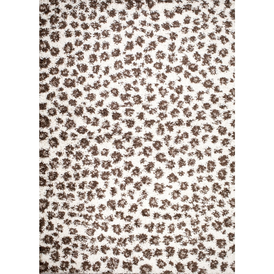 Concord Global Moderno Ivory Rectangular Indoor Machine-Made Animals Area Rug (Common: 7 x 9; Actual: 6.58-ft W x 9.25-ft L x 6.58-ft Dia)