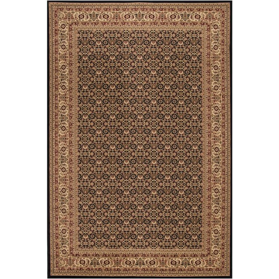 Concord Global Dynasty Black Rectangular Indoor Woven Oriental Area Rug (Common: 4 x 6; Actual: 47-in W x 67-in L x 3.92-ft Dia)