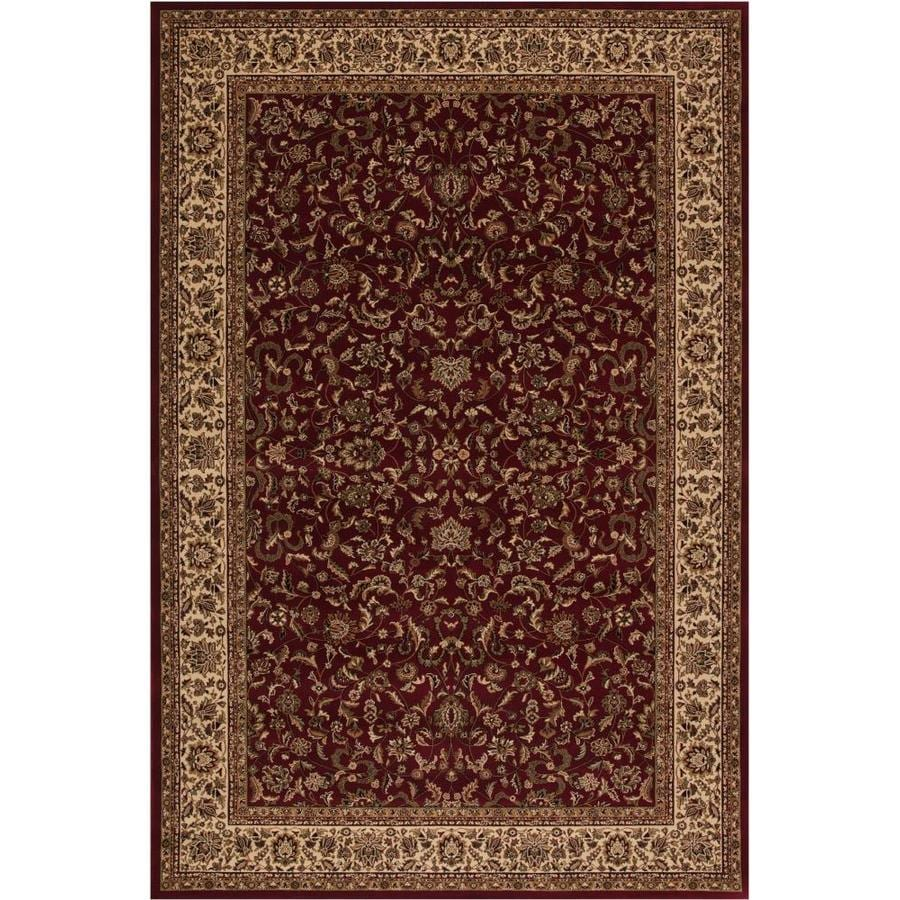 Concord Global Dynasty Red Rectangular Indoor Oriental Throw Rug (Common: 3 x 5; Actual: 2.58-ft W x 5-ft L x 2.58-ft dia)