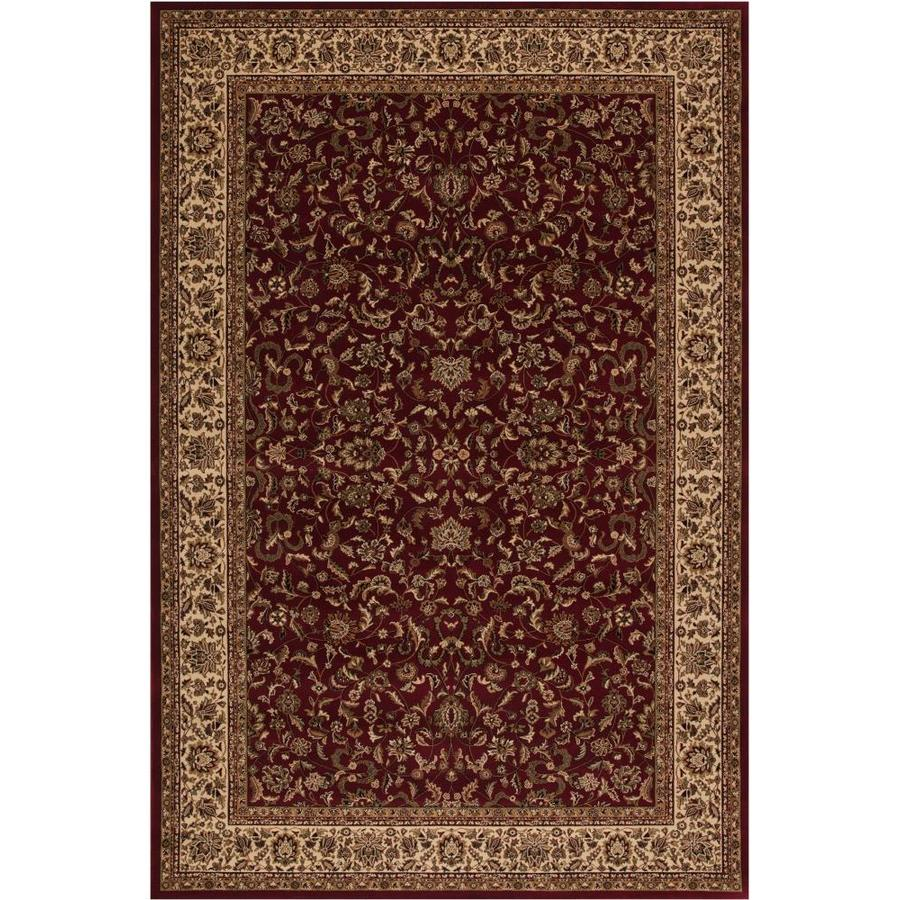 Concord Global Dynasty Red Rectangular Indoor Woven Oriental Area Rug (Common: 8 x 11; Actual: 7.83-ft W x 11.17-ft L x 7.83-ft Dia)