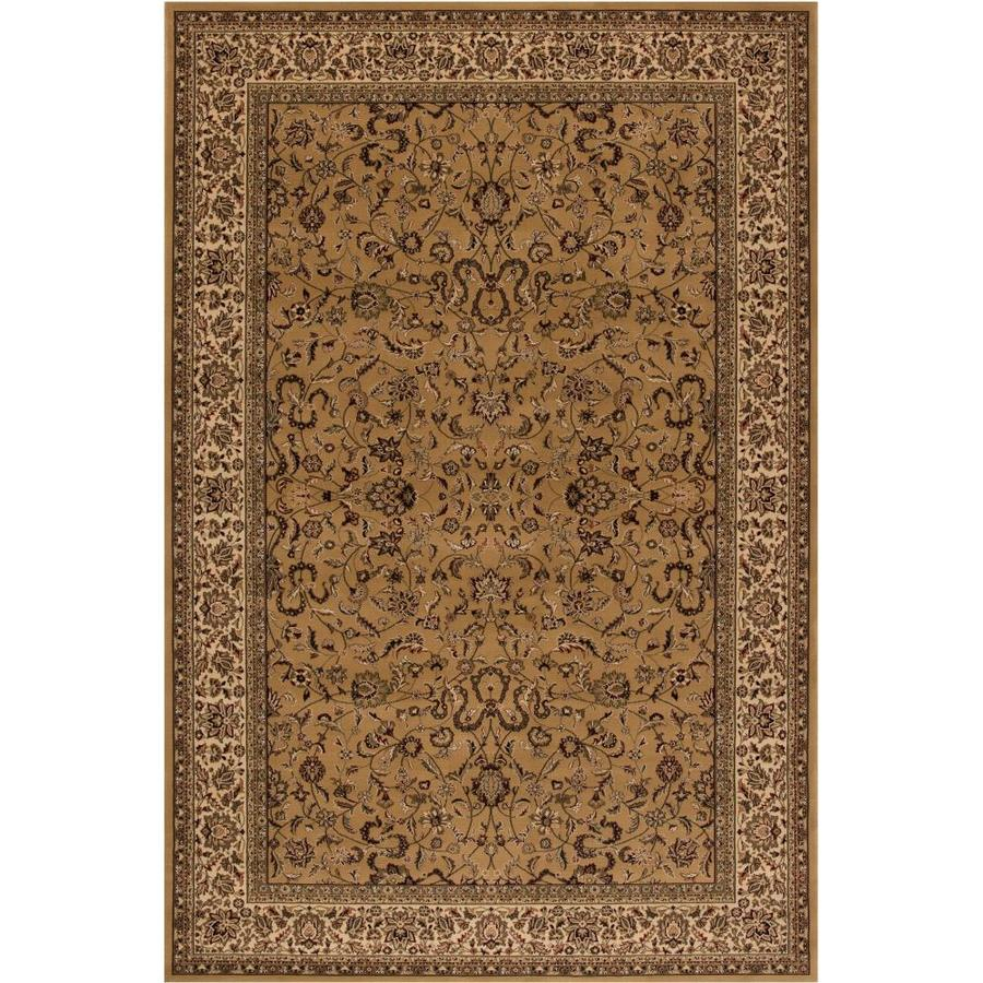 Concord Global Dynasty Gold Rectangular Indoor Woven Oriental Area Rug (Common: 8 x 11; Actual: 7.83-ft W x 11.17-ft L x 7.83-ft Dia)