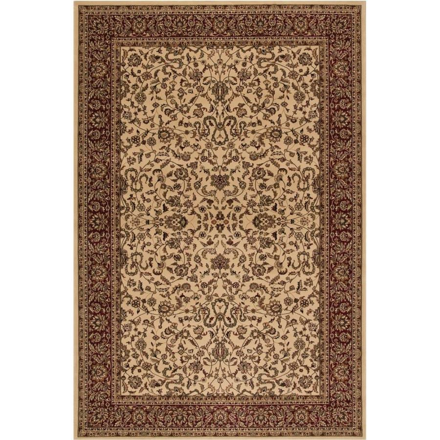 Concord Global Dynasty Ivory Rectangular Indoor Woven Oriental Throw Rug (Common: 3 x 5; Actual: 2.58-ft W x 5-ft L x 2.58-ft Dia)