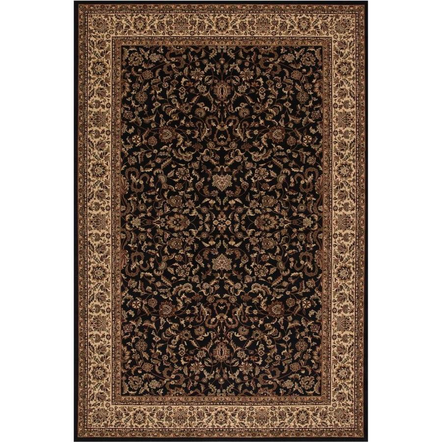 Concord Global Dynasty Black Rectangular Indoor Woven Oriental Area Rug (Common: 12 x 15; Actual: 131-in W x 180-in L x 10.92-ft Dia)