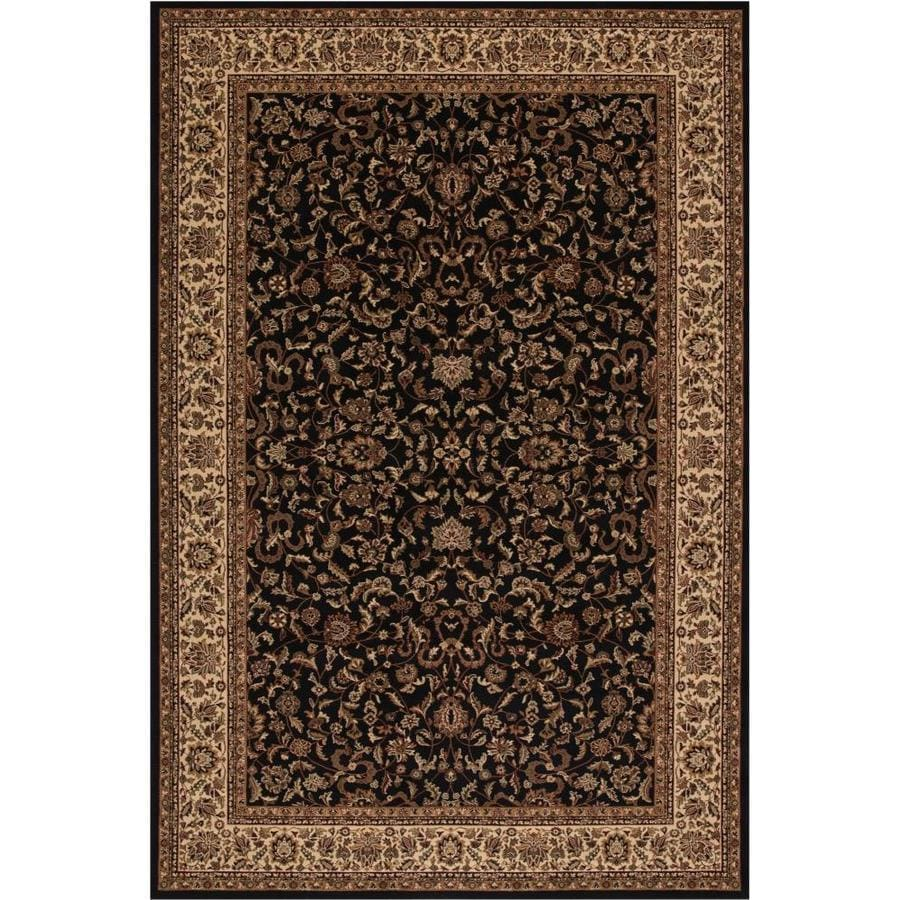 Concord Global Dynasty Black Rectangular Indoor Woven Oriental Area Rug (Common: 9 x 13; Actual: 111-in W x 154-in L x 9.25-ft Dia)