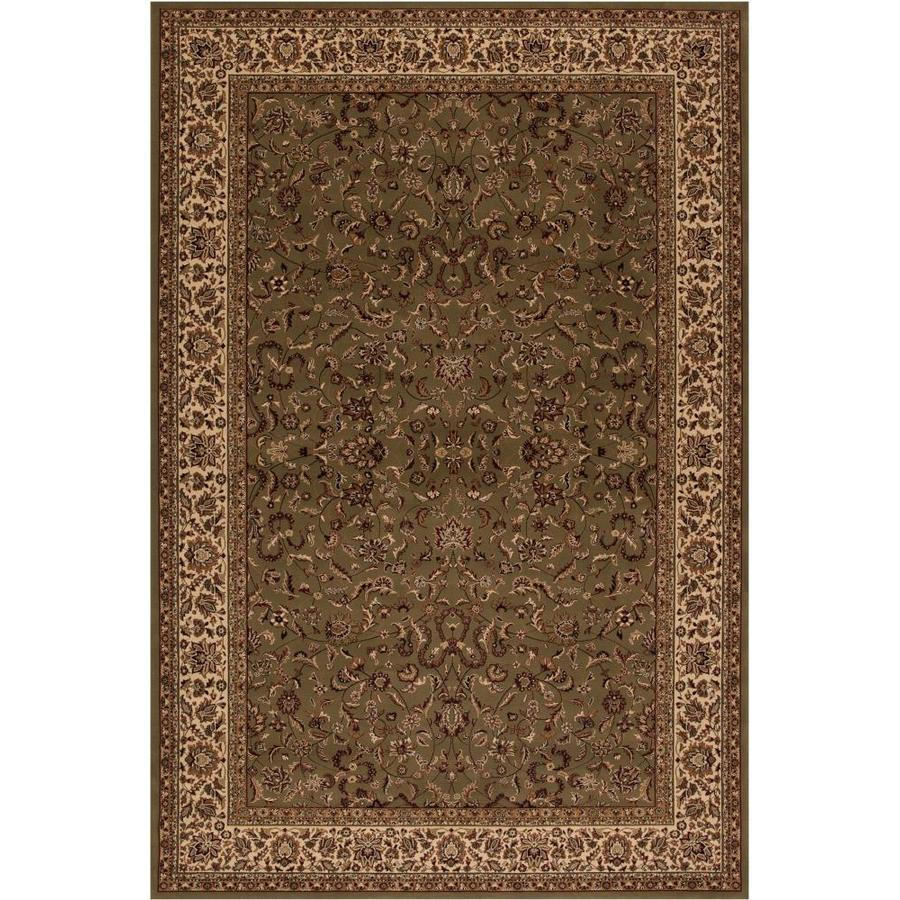 Concord Global Dynasty Green Rectangular Indoor Woven Oriental Area Rug (Common: 9 x 13; Actual: 9.25-ft W x 12.83-ft L x 9.25-ft Dia)