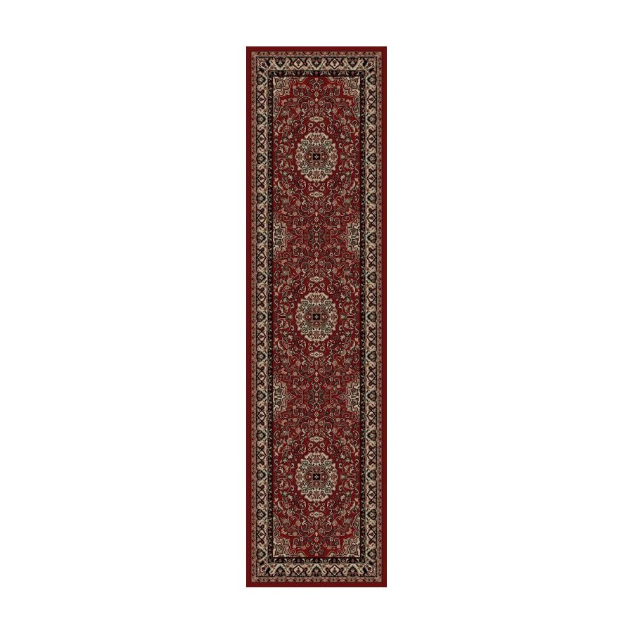 Concord Global Dynasty Red Woven Runner (Common: 2-ft x 8-ft; Actual: 2-ft x 7-ft 7-in)