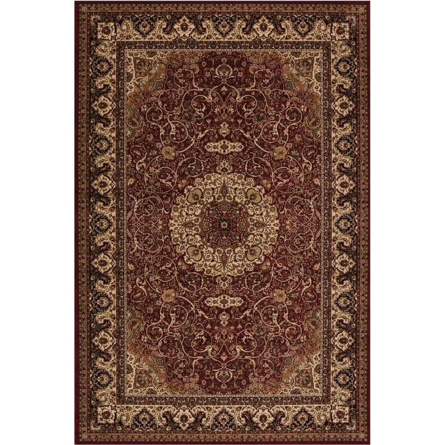 Concord Global Dynasty Red Rectangular Indoor Woven Oriental Area Rug (Common: 4 x 6; Actual: 3.92-ft W x 5.58-ft L x 3.92-ft Dia)