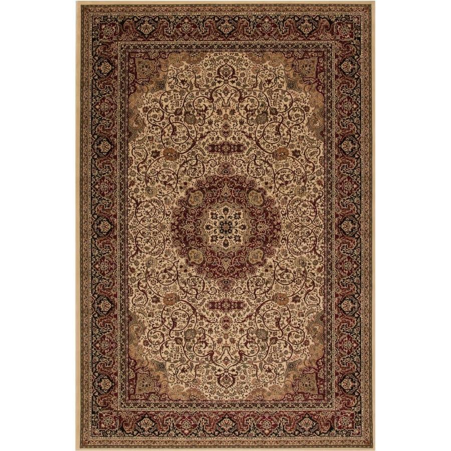 Concord Global Dynasty Ivory Rectangular Indoor Woven Oriental Area Rug (Common: 4 x 6; Actual: 47-in W x 67-in L x 3.92-ft Dia)