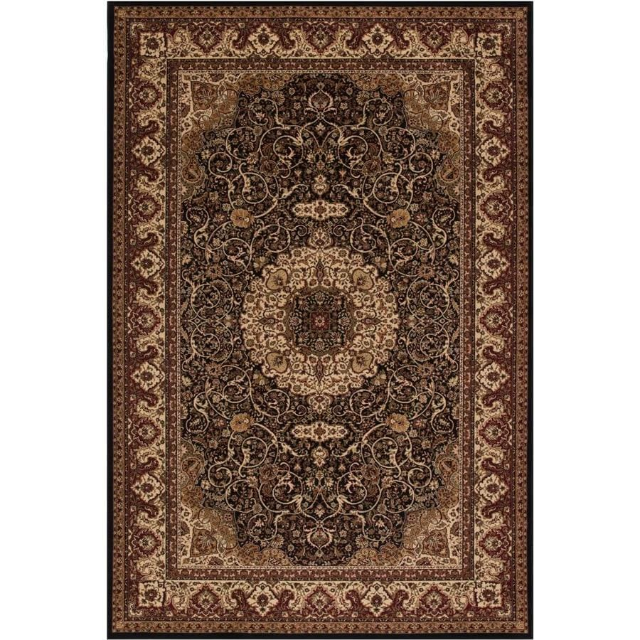 Concord Global Dynasty Black Rectangular Indoor Woven Oriental Area Rug (Common: 12 x 15; Actual: 10.92-ft W x 15-ft L x 10.92-ft Dia)