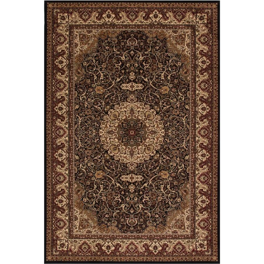 Concord Global Dynasty Black Rectangular Indoor Woven Oriental Throw Rug (Common: 3 x 5; Actual: 31-in W x 60-in L x 2.58-ft Dia)