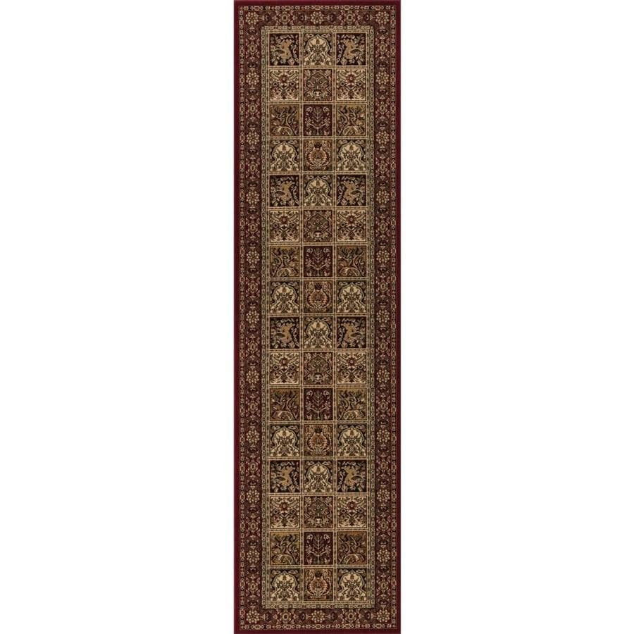 Concord Global Dynasty Red Rectangular Indoor Woven Oriental Runner (Common: 2 x 8; Actual: 24-in W x 91-in L x 2-ft Dia)