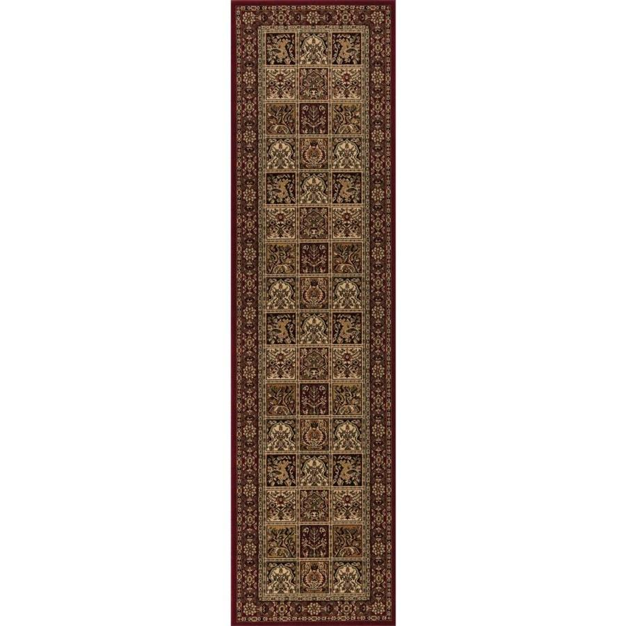 Concord Global Dynasty Red Rectangular Indoor Woven Oriental Runner (Common: 2 x 8; Actual: 2-ft W x 7.58-ft L x 2-ft Dia)