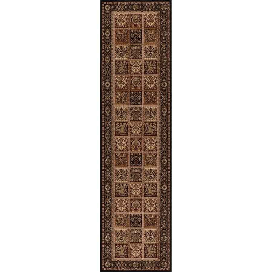 Concord Global Dynasty Black Rectangular Indoor Woven Oriental Runner (Common: 2 x 8; Actual: 2-ft W x 7.58-ft L x 2-ft Dia)