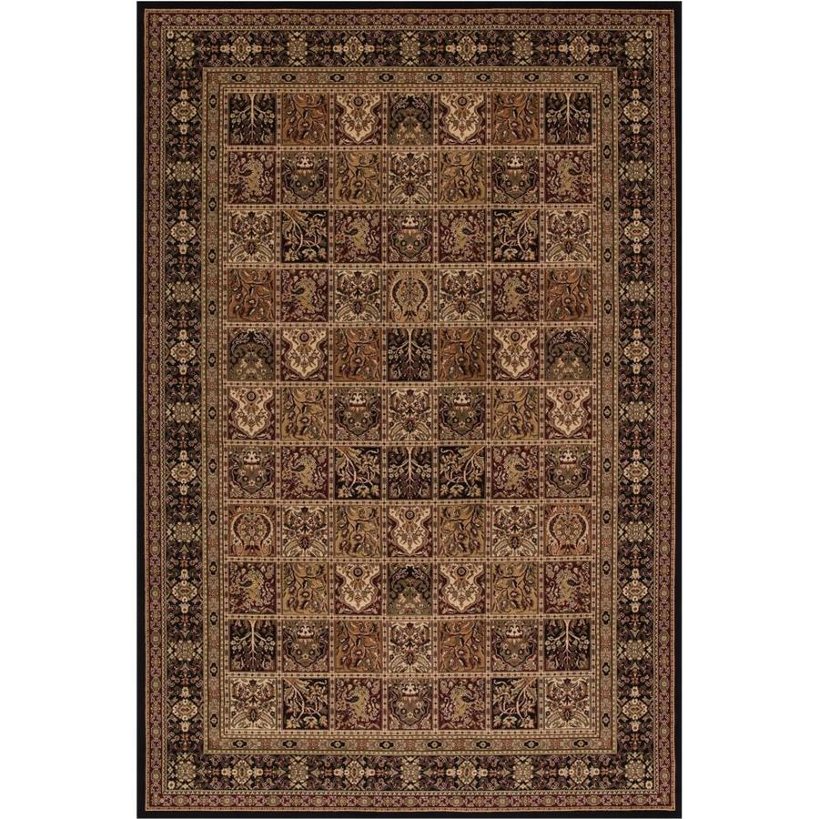 Concord Global Dynasty Black Rectangular Indoor Woven Oriental Throw Rug (Common: 3 x 5; Actual: 2.58-ft W x 5-ft L x 2.58-ft Dia)