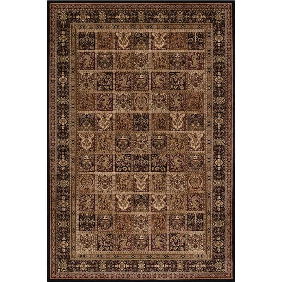 Concord Global Dynasty Black Rectangular Indoor Woven Oriental Area Rug (Common: 8 x 11; Actual: 7.83-ft W x 11.17-ft L x 7.83-ft Dia)