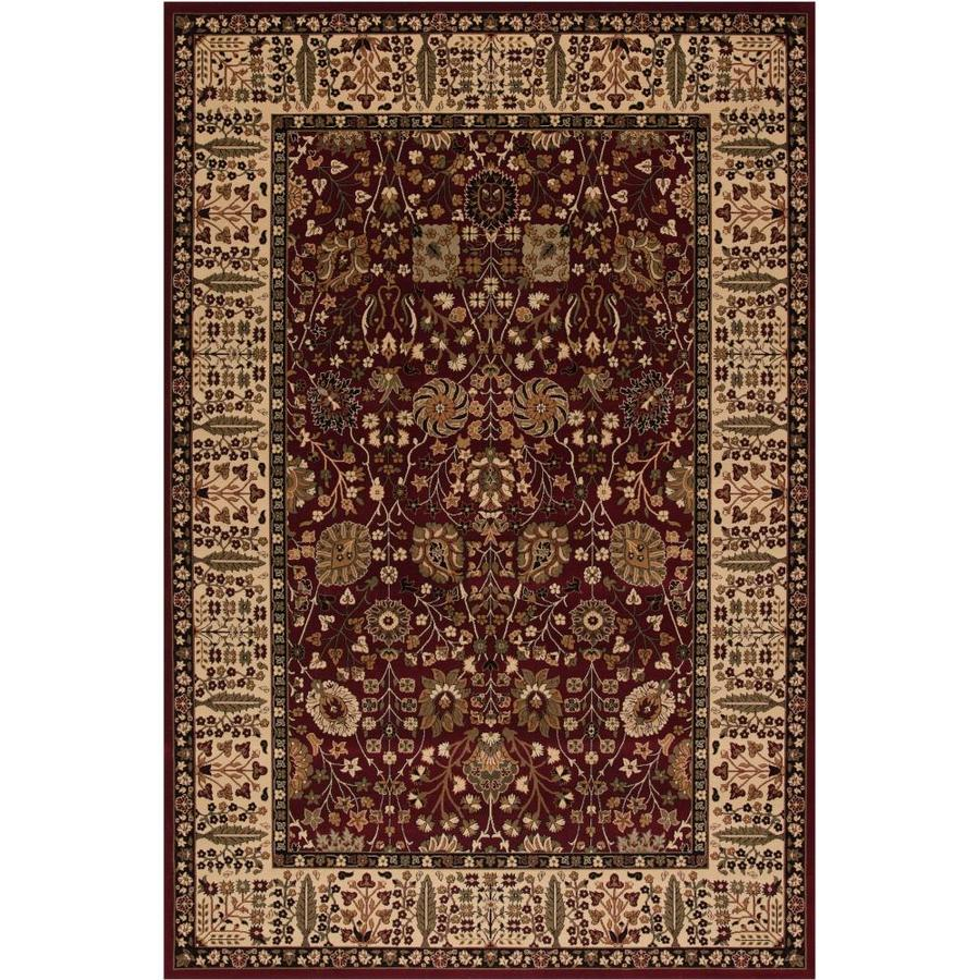 Concord Global Dynasty Red Rectangular Indoor Woven Oriental Area Rug (Common: 4 x 6; Actual: 47-in W x 67-in L x 3.92-ft Dia)