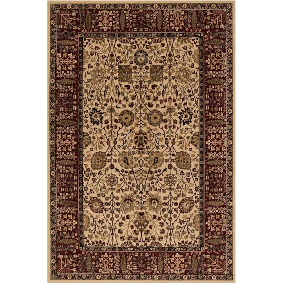 Concord Global Dynasty Ivory Rectangular Indoor Woven Oriental Area Rug (Common: 9 x 13; Actual: 111-in W x 154-in L x 9.25-ft Dia)