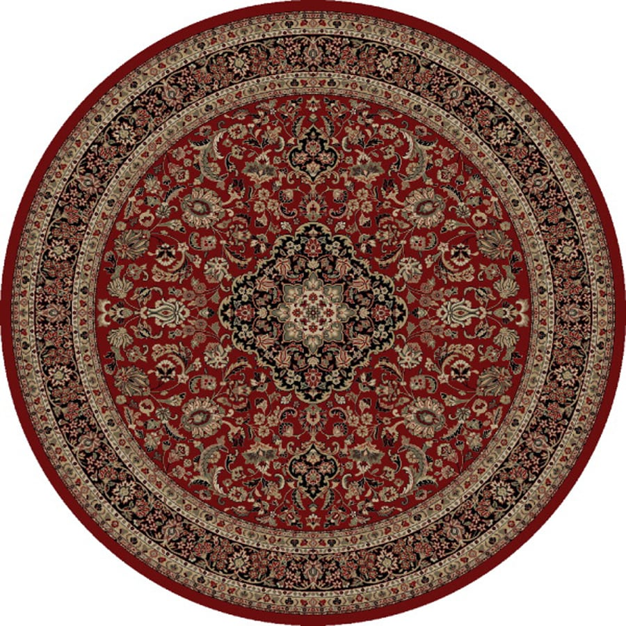 Concord Global Dynasty Red Round Indoor Woven Oriental Area Rug (Common: 8 x 8; Actual: 7.83-ft W x 7.83-ft L x 7.83-ft Dia)