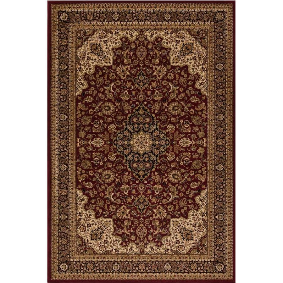 Style Selections Daltorio Red Rectangular Indoor Woven Oriental Area Rug (Common: 8 x 10; Actual: 7.83-ft W x 9.83-ft L x 7.83-ft Dia)
