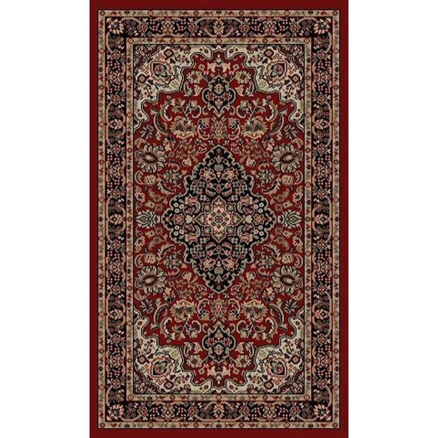 Style Selections Daltorio Red Rectangular Indoor Woven Oriental Throw Rug (Common: 2 x 3; Actual: 1.92-ft W x 3.25-ft L x 1.92-ft Dia)