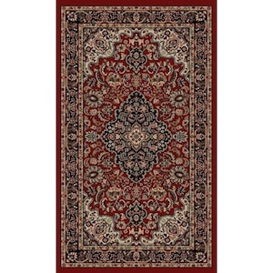 Style Selections Daltorio Red Rectangular Indoor Machine Made Oriental Throw Rug Common 2 X 3 Actual 1 92 Ft W 25 L Dia At