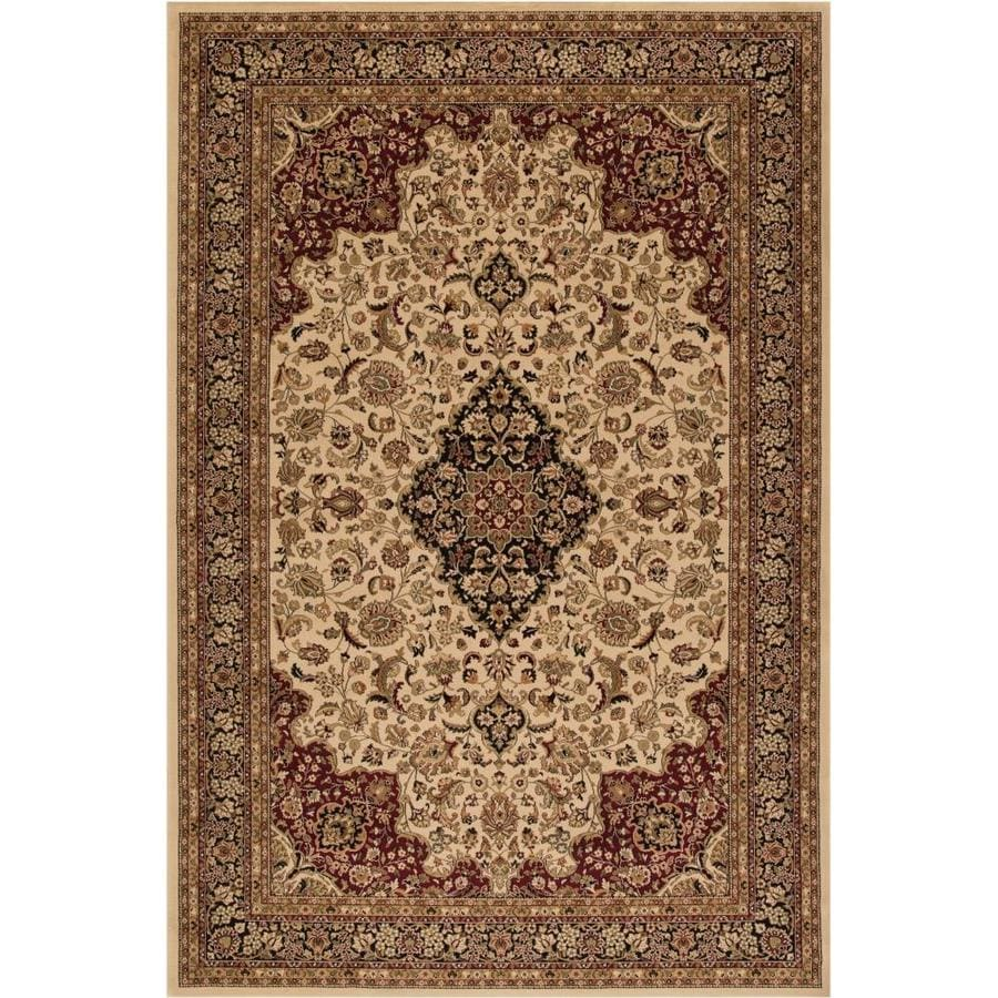 Concord Global Dynasty Ivory Rectangular Indoor Machine-made Oriental Area Rug (Common: 7 x 10; Actual: 6.58-ft W x 9.5-ft L x 6.58-ft Dia)