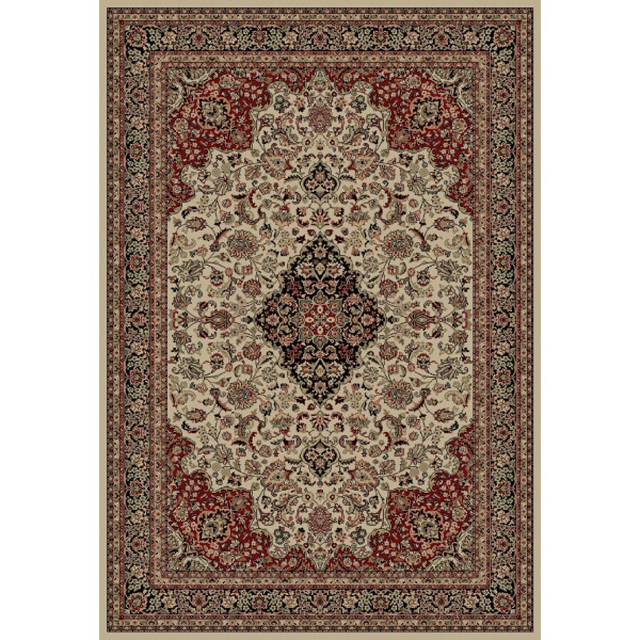 Concord Global Dynasty Ivory Rectangular Indoor Woven Oriental Area Rug (Common: 8 x 11; Actual: 94-in W x 134-in L x 7.83-ft Dia)