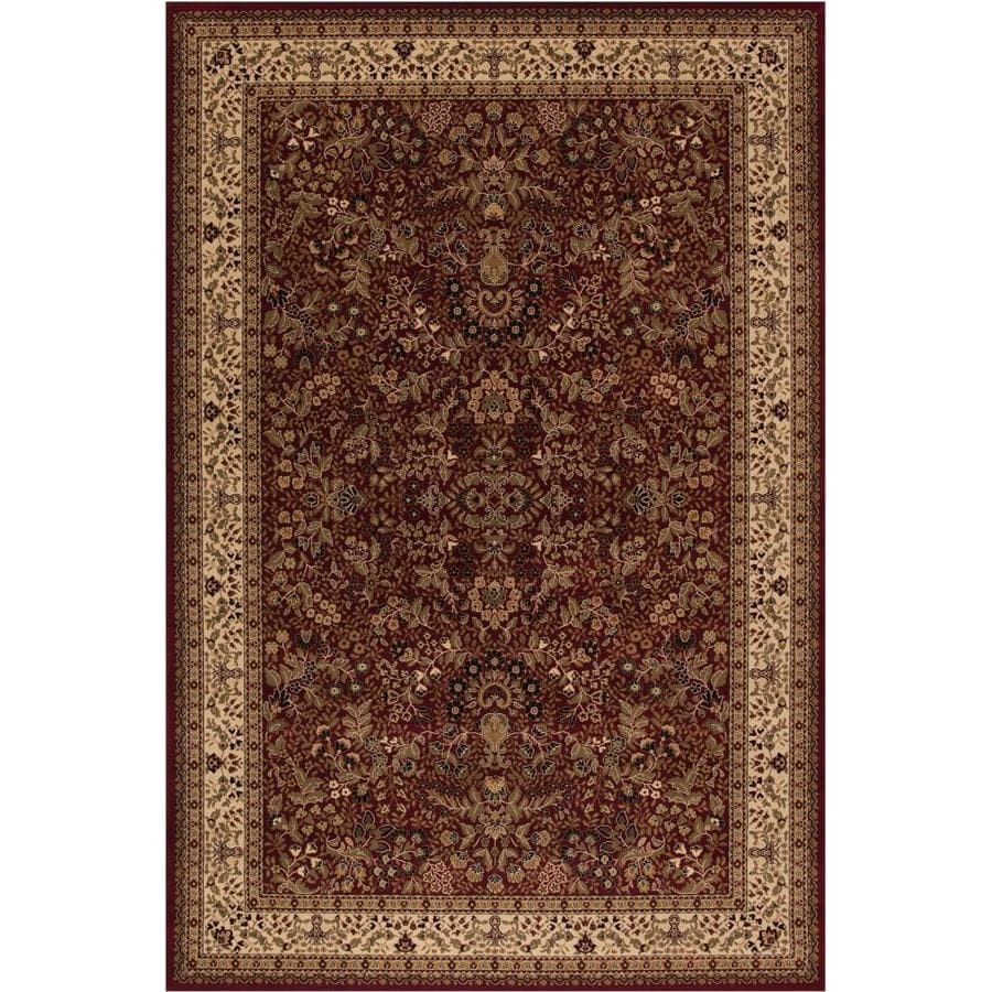 Concord Global Dynasty Red Rectangular Indoor Woven Oriental Area Rug (Common: 5 x 8; Actual: 5.25-ft W x 7.58-ft L x 5.25-ft Dia)