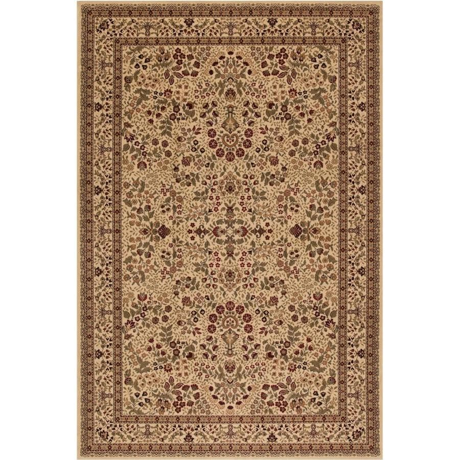 Concord Global Dynasty Ivory Rectangular Indoor Woven Oriental Area Rug (Common: 5 x 8; Actual: 5.25-ft W x 7.58-ft L x 5.25-ft Dia)