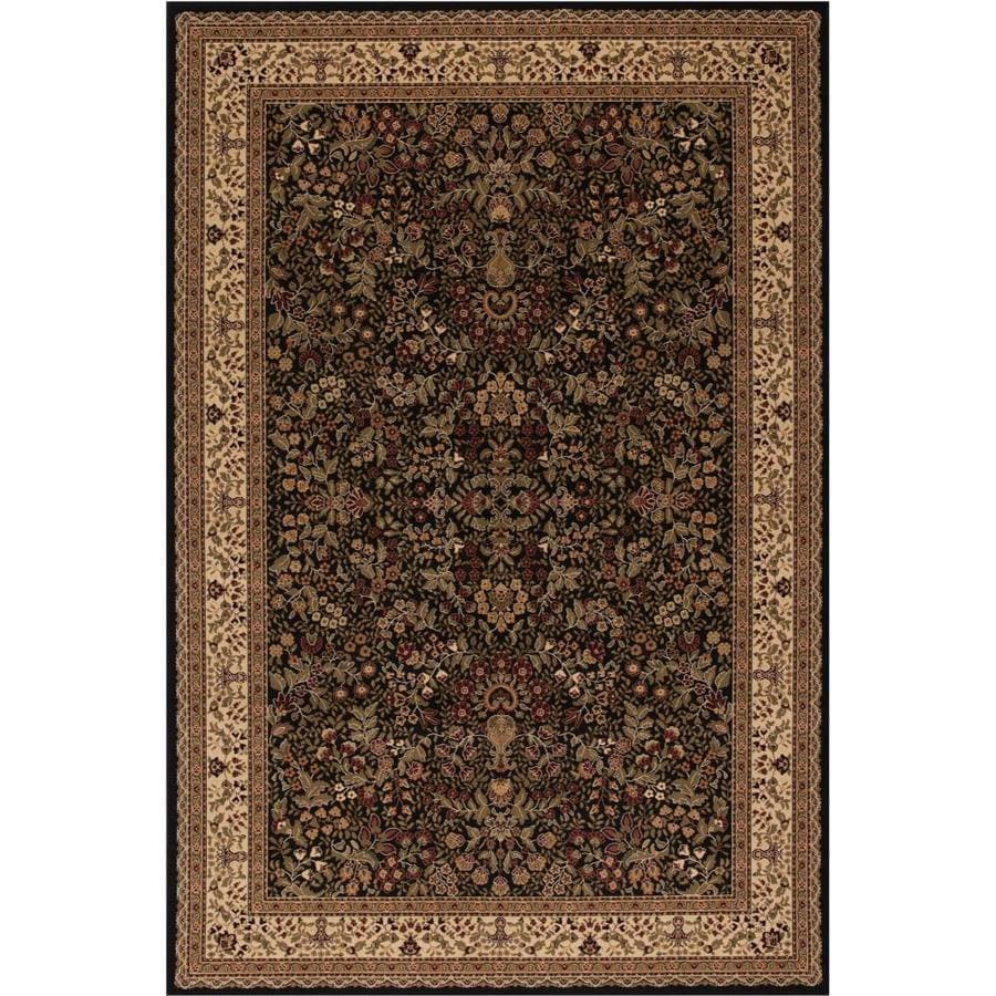 Concord Global Dynasty Black Rectangular Indoor Woven Oriental Area Rug (Common: 7 x 10; Actual: 79-in W x 114-in L x 6.58-ft Dia)