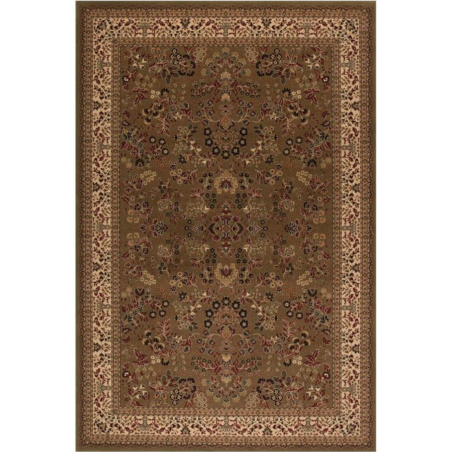 Concord Global Dynasty Green Rectangular Indoor Woven Oriental Area Rug (Common: 4 x 6; Actual: 47-in W x 67-in L x 3.92-ft Dia)
