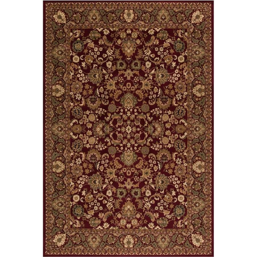 Concord Global Dynasty Red Rectangular Indoor Machine-made Oriental Throw Rug (Common: 3 x 5; Actual: 2.58-ft W x 5-ft L x 2.58-ft Dia)