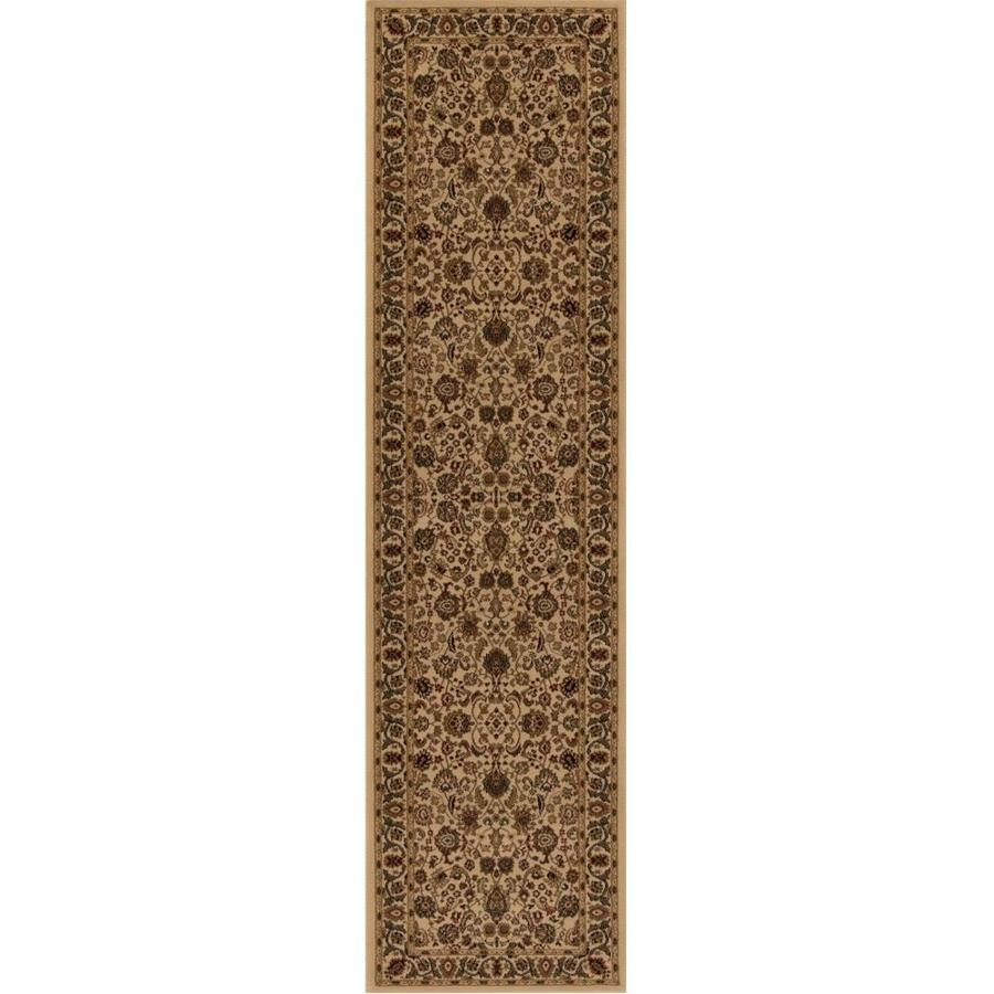 Concord Global Dynasty Ivory Rectangular Indoor Woven Oriental Runner (Common: 2 x 8; Actual: 2-ft W x 7.58-ft L x 2-ft Dia)