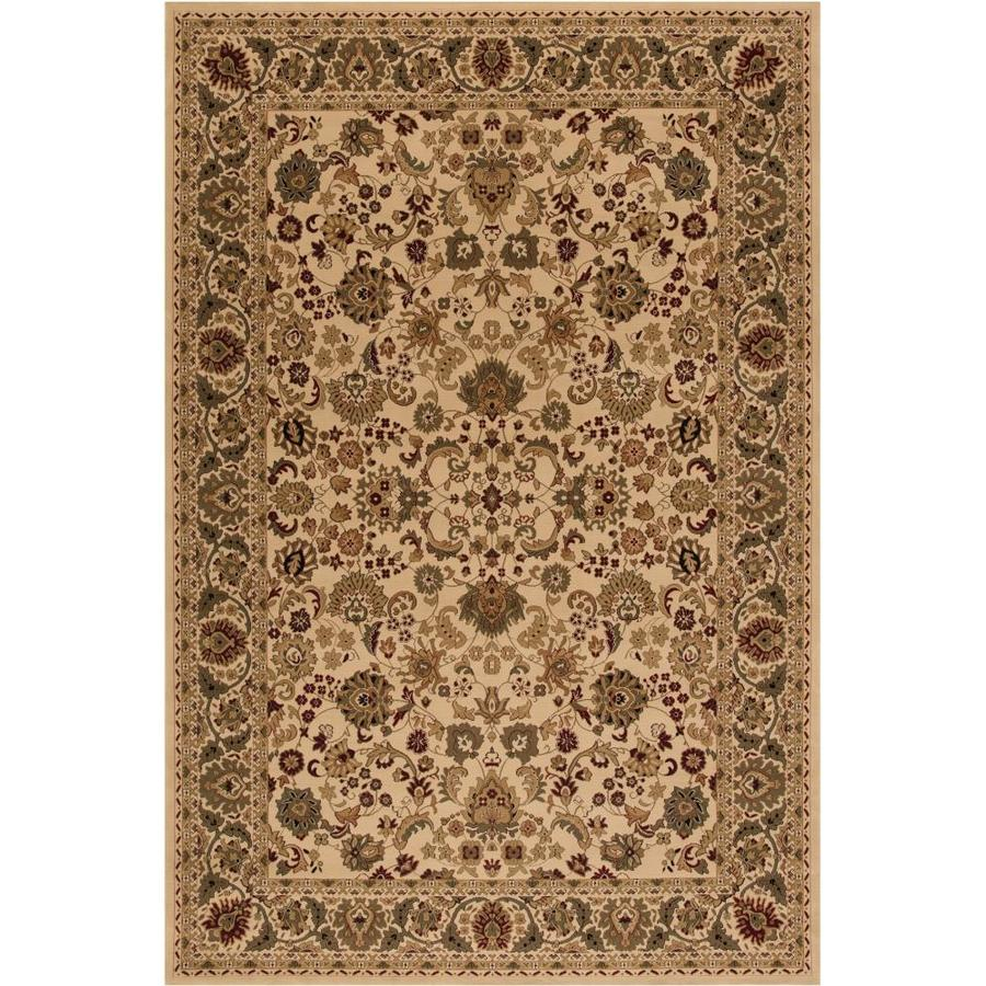 Concord Global Dynasty Ivory Rectangular Indoor Oriental Throw Rug (Common: 3 x 5; Actual: 2.58-ft W x 5-ft L x 2.58-ft dia)