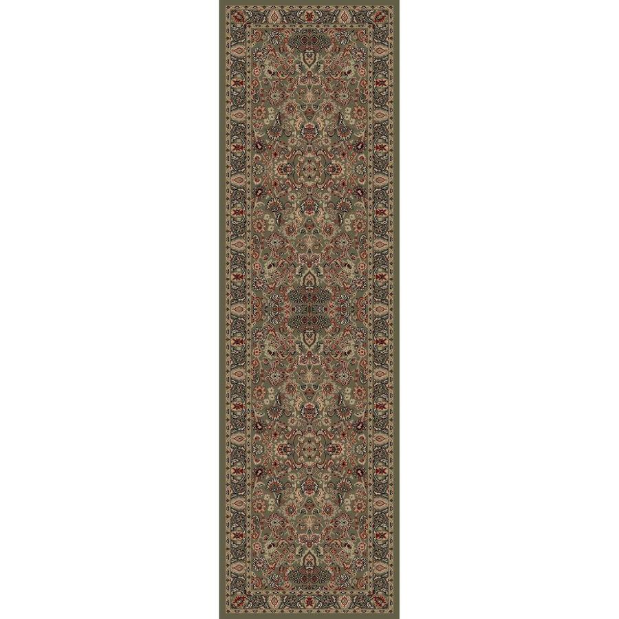 Concord Global Dynasty Green Rectangular Indoor Woven Oriental Runner (Common: 2 x 8; Actual: 2-ft W x 7.58-ft L x 2-ft Dia)