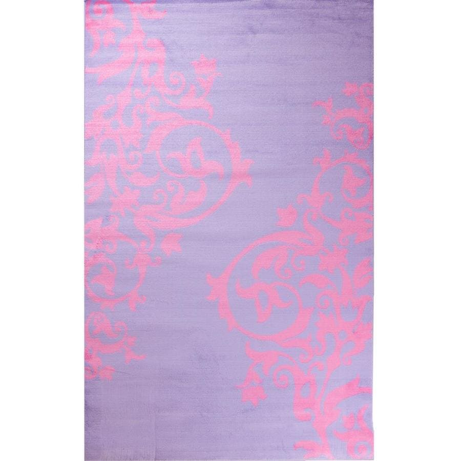 Concord Global Dante Purple Rectangular Indoor Woven Kids Area Rug (Common: 3 x 5; Actual: 3.33-ft W x 5-ft L x 3.33-ft Dia)