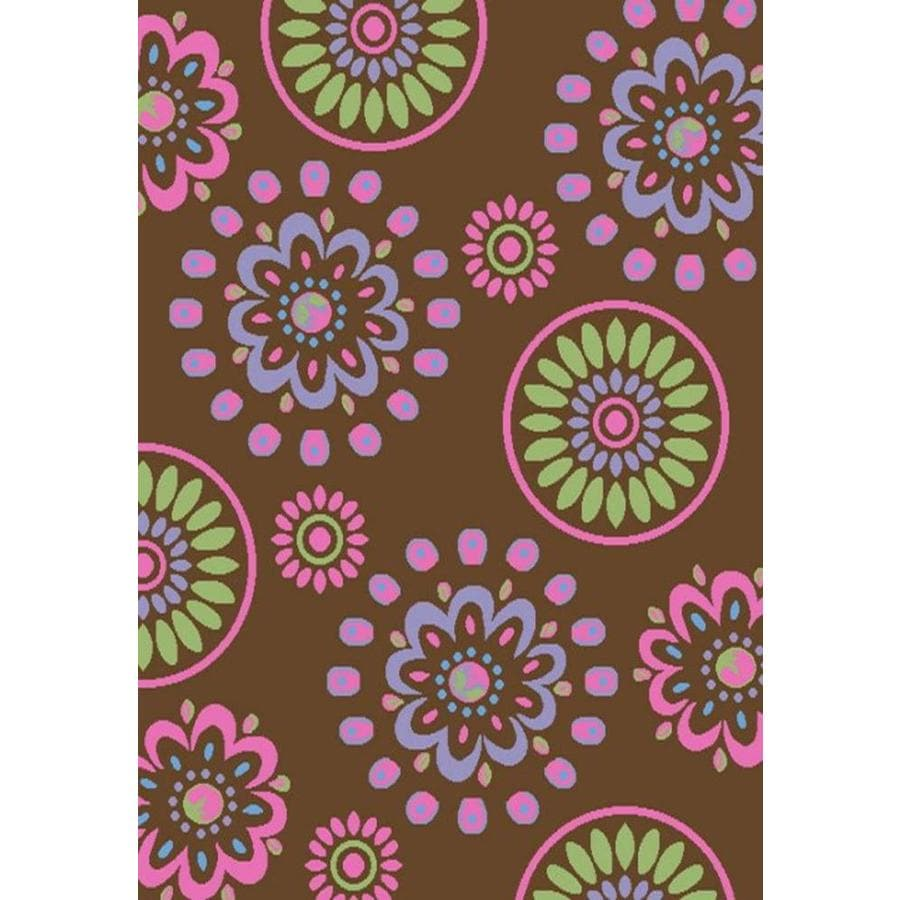 Concord Global Dante Brown Rectangular Indoor Machine-made Kids Area Rug (Common: 5 x 7; Actual: 5-ft W x 7-ft L x 5-ft Dia)