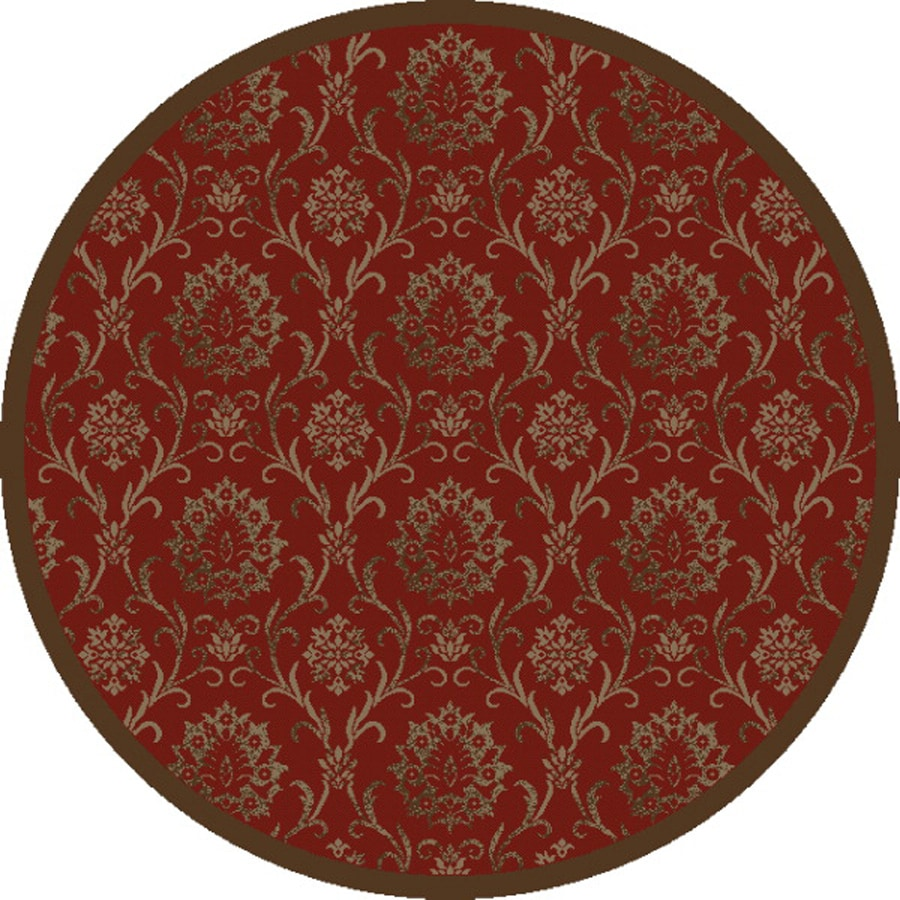 Concord Global Mooresville Red Round Indoor Oriental Area Rug (Common: 5 x 5; Actual: 5.25-ft W x 5.25-ft L x 5.25-ft dia)