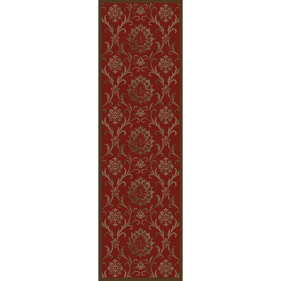 Concord Global Mooresville Red Rectangular Indoor Woven Oriental Runner (Common: 2 x 8; Actual: 2.25-ft W x 7.25-ft L x 2.25-ft Dia)