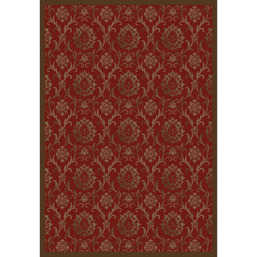 Concord Global Mooresville Red Rectangular Indoor Woven Oriental Area Rug (Common: 5 x 7; Actual: 5.25-ft W x 7.25-ft L x 5.25-ft Dia)