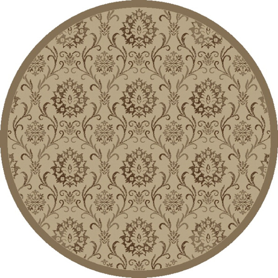 Concord Global Mooresville Ivory Round Indoor Woven Oriental Area Rug (Common: 5 x 5; Actual: 63-in W x 63-in L x 5.25-ft Dia)