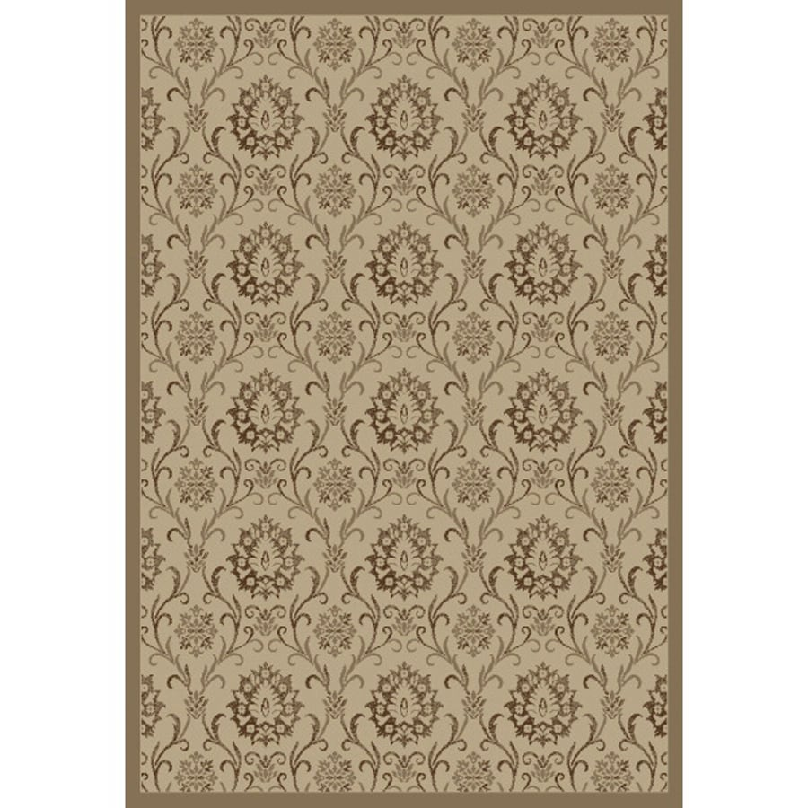 Concord Global Mooresville Ivory Rectangular Indoor Woven Oriental Area Rug (Common: 5 x 7; Actual: 63-in W x 87-in L x 5.25-ft Dia)