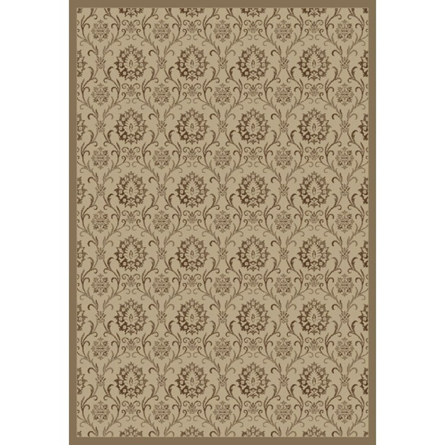 Concord Global Mooresville Ivory Rectangular Indoor Woven Oriental Area Rug (Common: 7 x 9; Actual: 6.58-ft W x 9.25-ft L x 6.58-ft Dia)