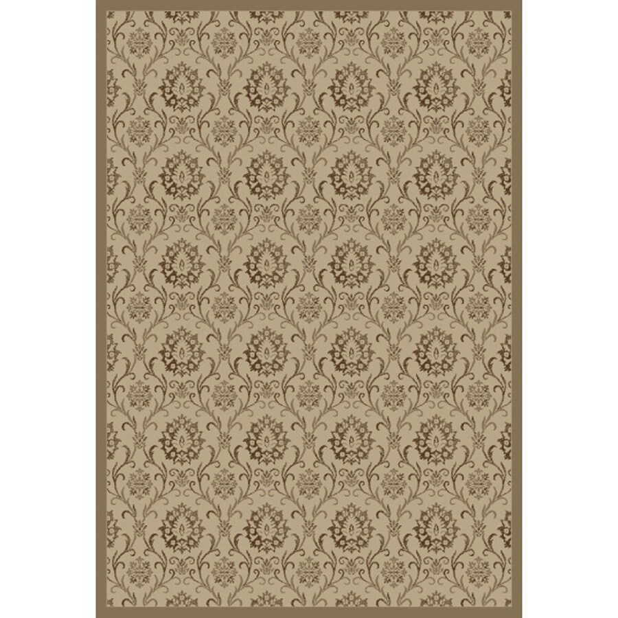 Concord Global Mooresville Ivory Rectangular Indoor Woven Oriental Area Rug (Common: 7 x 9; Actual: 79-in W x 111-in L x 6.58-ft Dia)