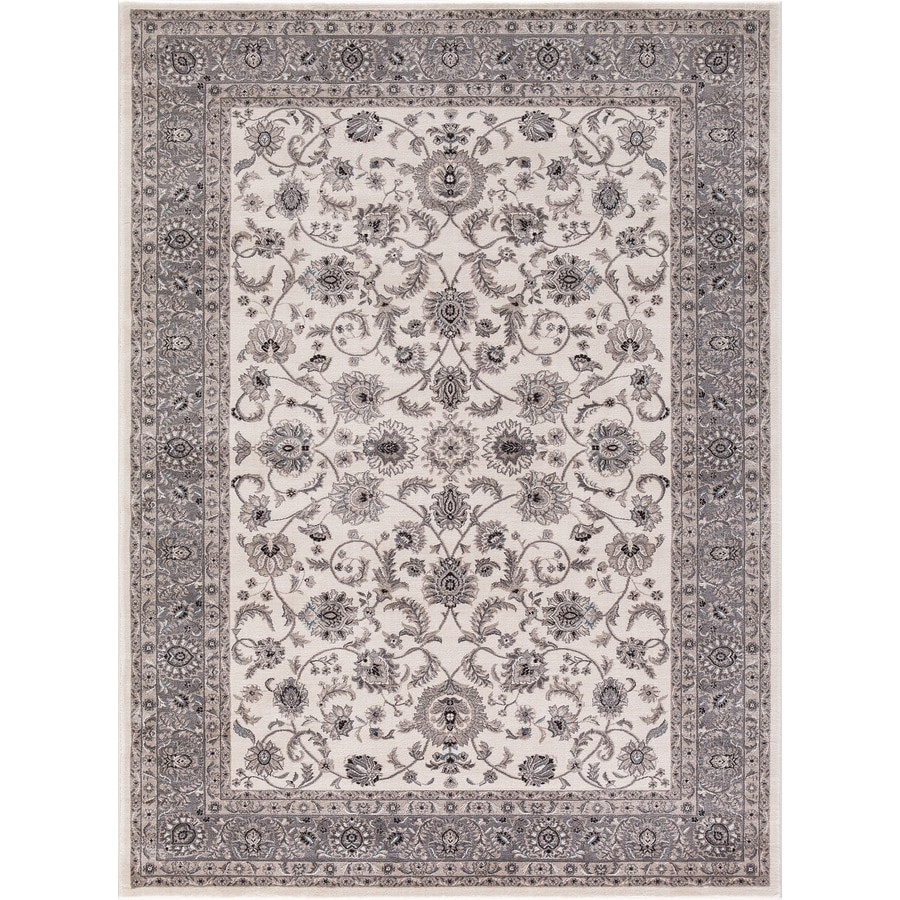 Concord Global Troy Ivory Rectangular Indoor Machine-Made Oriental Area Rug (Common: 8 x 11; Actual: 7.83-ft W x 9.83-ft L)