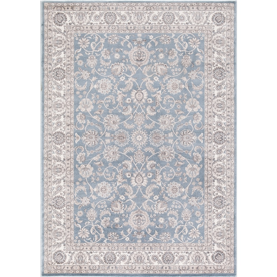 Concord Global Troy Blue Rectangular Indoor Machine-Made Oriental Area Rug (Common: 5 x 7; Actual: 5.25-ft W x 7.25-ft L)