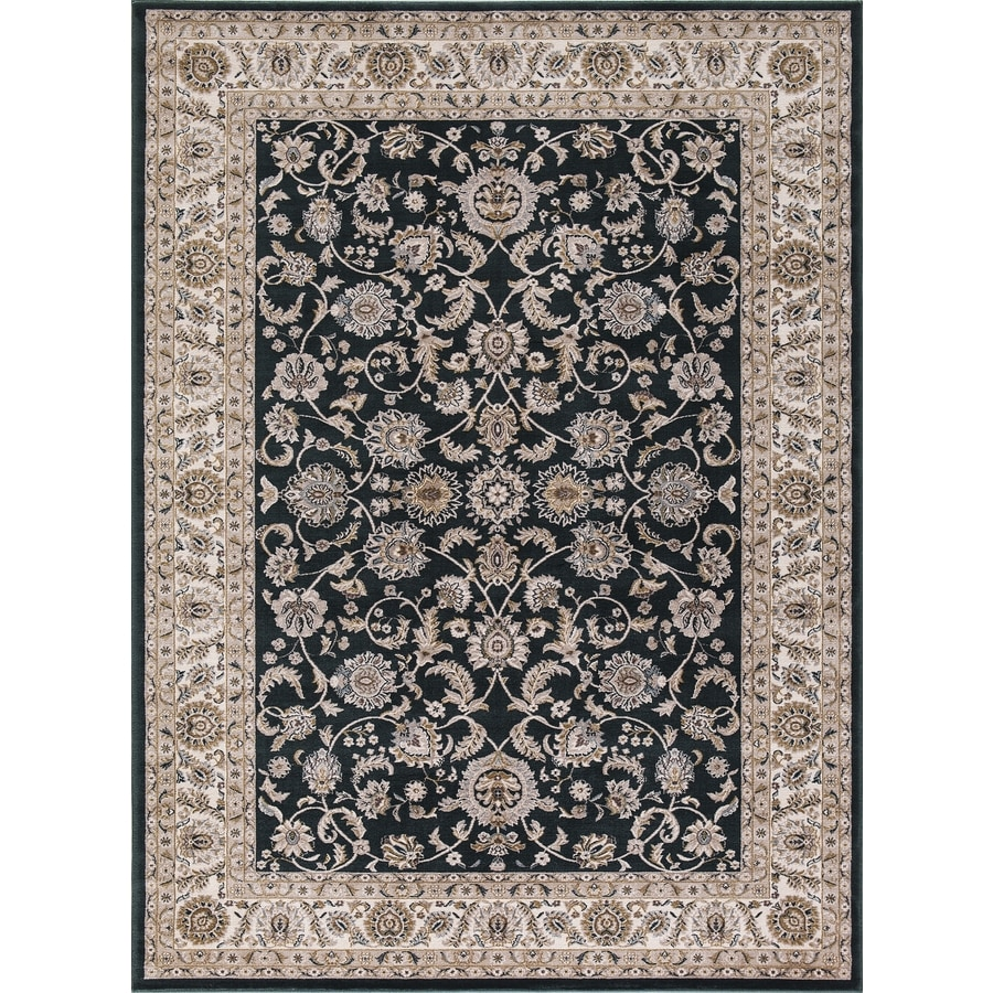 Concord Global Troy Green Rectangular Indoor Machine-Made Oriental Area Rug (Common: 7 x 10; Actual: 6.58-ft W x 9.25-ft L)