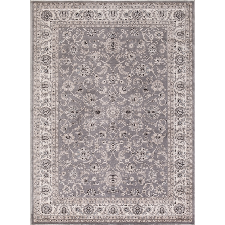 Concord Global Troy Gray Rectangular Indoor Machine-Made Oriental Area Rug (Common: 8 x 11; Actual: 7.83-ft W x 9.83-ft L)